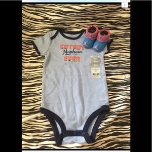 Nike Air Jordan Baby Booties 0-6M Boys ONESIE 6M